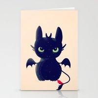 Night Fury Stationery Cards