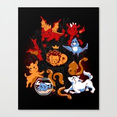 Little Thronies Canvas Print