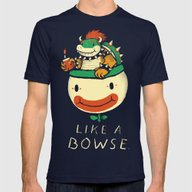 Like A Bowse Mens Fitted Tee Navy SMALL