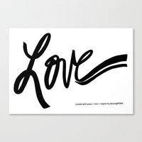 made with love Canvas Print