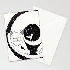 cats life: dreaming Stationery Cards
