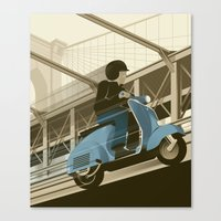 East River Crossing Canvas Print