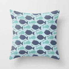 Fishies Throw Pillow