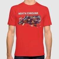 NORTH CAROLINA Mens Fitted Tee Red SMALL