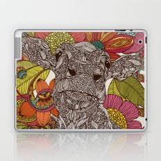 Arabella and the flowers Laptop & iPad Skin
