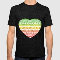 One Love Tribal {white} Mens Fitted Tee Tri-Black SMALL