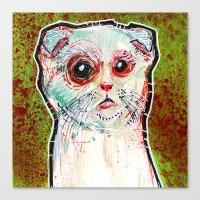 Infected Sugar Cat Canvas Print