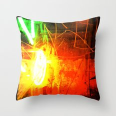 Neon Blast Throw Pillow