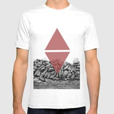 red walls SMALL White Mens Fitted Tee
