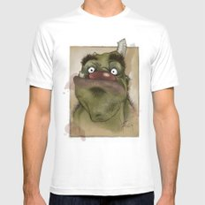 Ogre George Mens Fitted Tee White SMALL