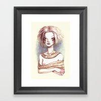 Portrait Of An Astroid Framed Art Print