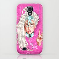 Galaxy S4 Cases featuring Take Me To Your Planet by Helen Green