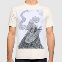 Winter Goddess Mens Fitted Tee Natural SMALL