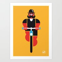 Bicycle Man Art Print
