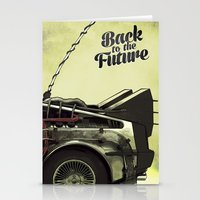 back to the future Stationery Cards featuring Back to the future by Duke.Doks
