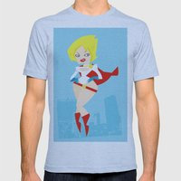 Powergirl Mens Fitted Tee Athletic Blue SMALL