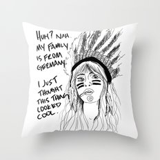Attention Whore - BW Throw Pillow