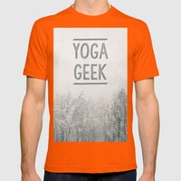Yoga Geek Mens Fitted Tee Orange SMALL