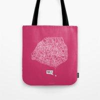 Spidermaps #1 Light Tote Bag