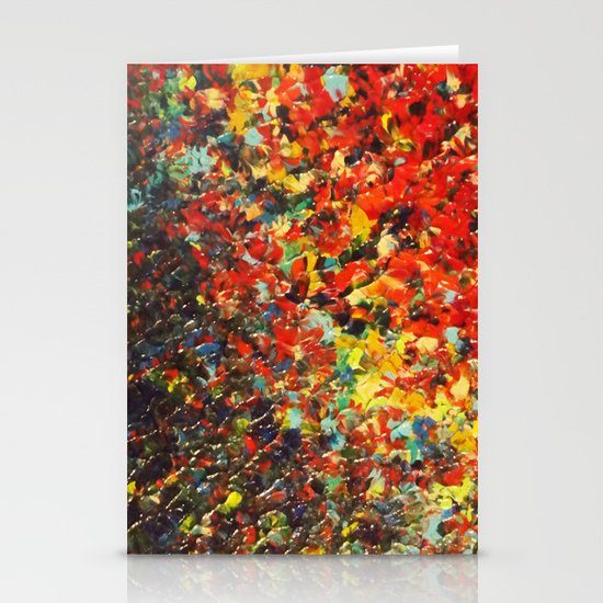 END OF THE RAINBOW - Bold Multicolor Abstract Colorful Nature Inspired Sunrise Sunset Ocean Theme Stationery Card