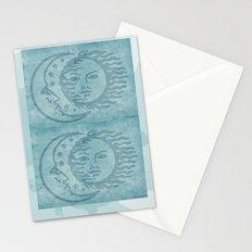 Sun Moon And Stars Batik Stationery Cards
