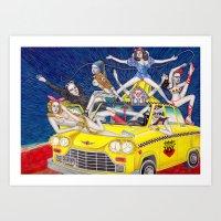少女時代 - Girls Generation / Gouache Original A4 Illustration / Painting Art Print