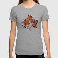 Ryukin Goldfish Womens Fitted Tee Athletic Grey SMALL