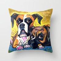 Boxers  Throw Pillow