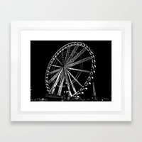 Night Time Ferris Ride Framed Art Print