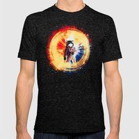 With Love From Space Mens Fitted Tee Tri-Black SMALL