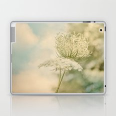 Cloudy with Sunshine and Queen Anne's Lace Wild Flowers in a Meadow Laptop & iPad Skin