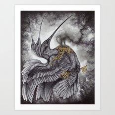 Smoke and Ashes Art Print