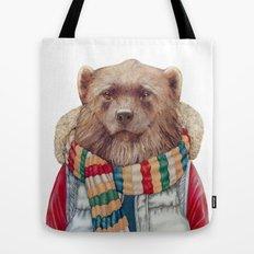 WinterWolverine Tote Bag