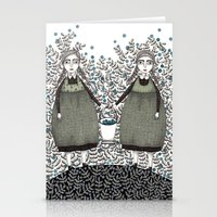 Blueberry Pickers Stationery Cards