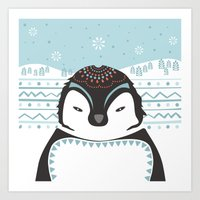 Messer Pinguino Art Print