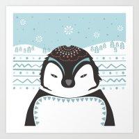Messer Pinguino Art Print