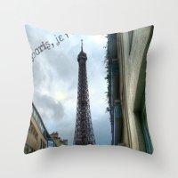 paris, je t'aime Throw Pillow