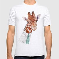 Mr Giraffe Mens Fitted Tee Ash Grey SMALL