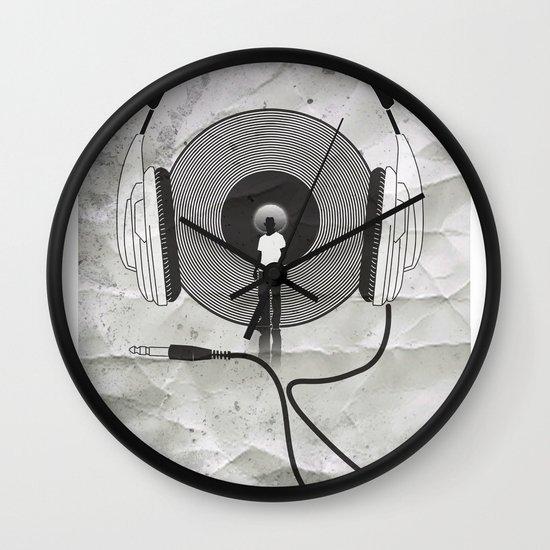 vinyl afro Wall Clock