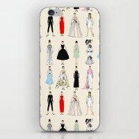 Audrey Fashion Vintage Retro in Cream iPhone & iPod Skin