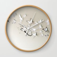 Butterfly Birds Wall Clock