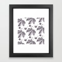 Floral pattern horse-chestnut Framed Art Print