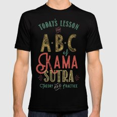 Kama Sutra Lessons Mens Fitted Tee Black SMALL