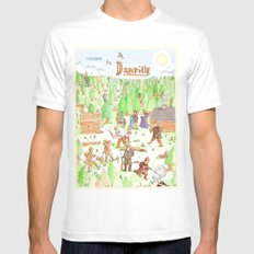 Locals Only- Danville Mens Fitted Tee White SMALL