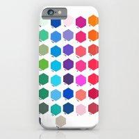 Hexagon Color Chart iPhone 6 Slim Case