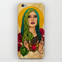 iPhone & iPod Skin featuring Lady Icon by Lady Macabre Art
