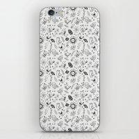 Doodle Birds Seamless Patterns iPhone & iPod Skin