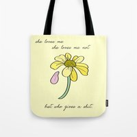 Don't Care Tote Bag