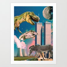 Dino Blaster Art Print