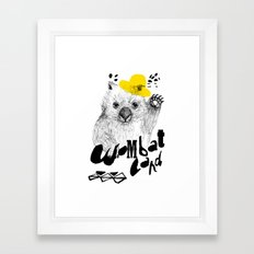 Wombat Love Framed Art Print